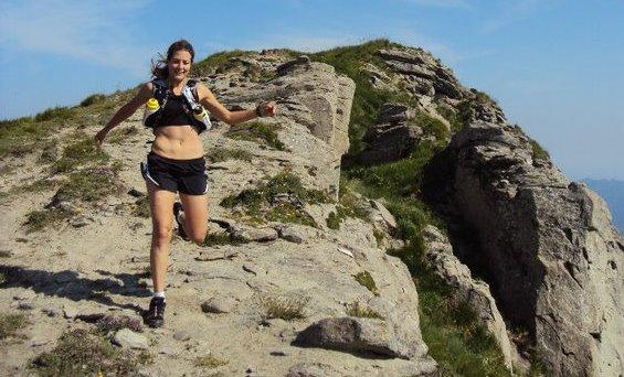 Alessandra Carlini in allenamento sui Monti della Laga