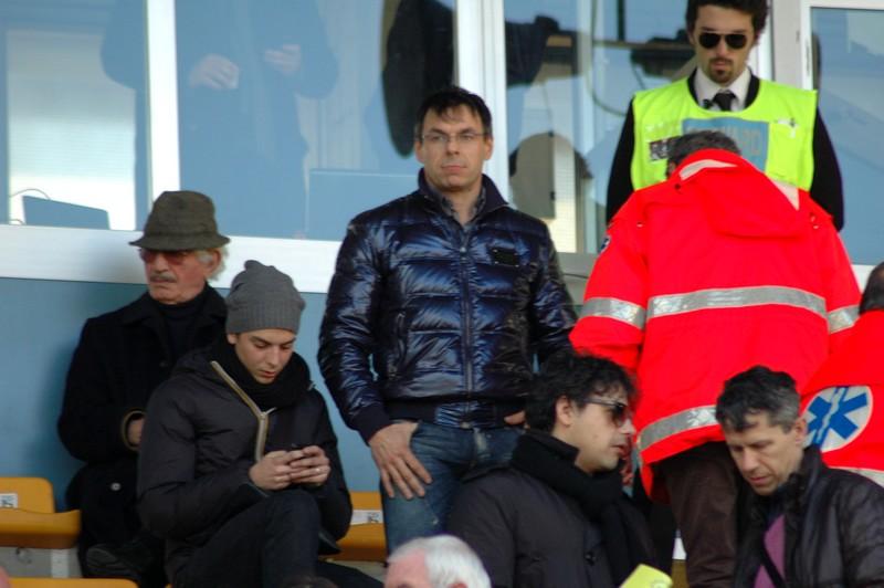 Palatroni in tribuna durante Ascoli-Portogruaro (fotoservizio Andrea Giammusso)