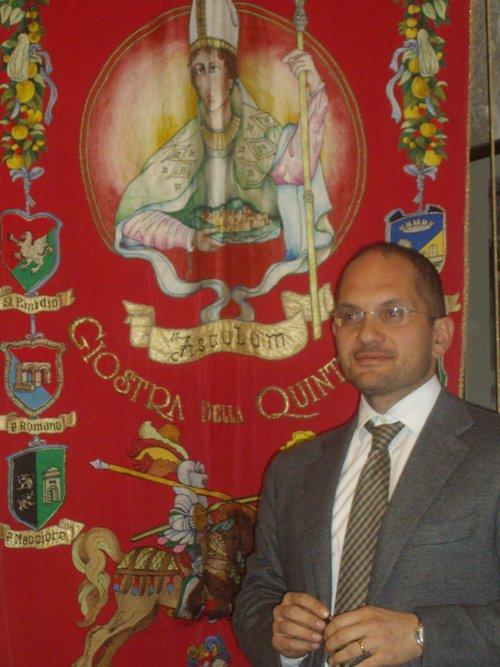 Il sindaco di Ascoli Piceno Guido Castelli