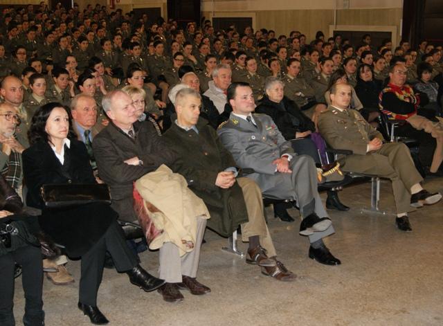 235° Reggimento Piceno, le autorità presenti al convegno