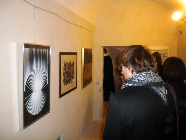 L'inaugurazione della mostra sull'astrattismo - collezione Fiocchi