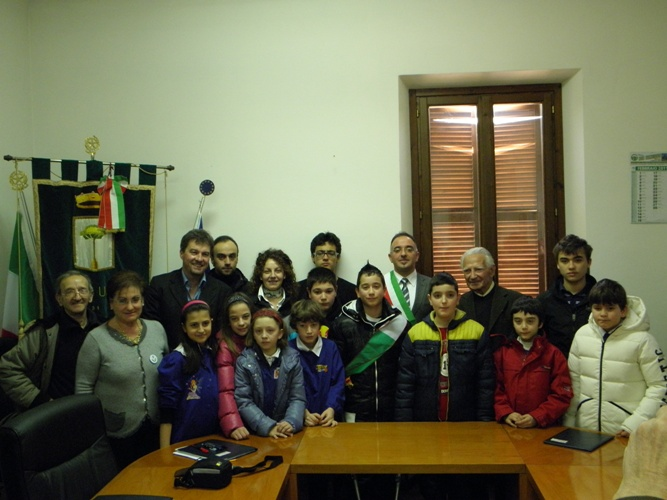 Il Neo eletto sindaco del consiglio dei ragazzi Federico Giorgi