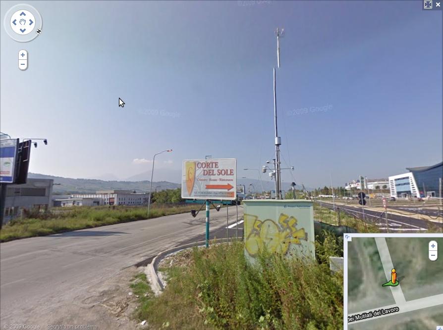 La centralina per il rilevamento delle polveri sottili a Villa Sant'Antonio