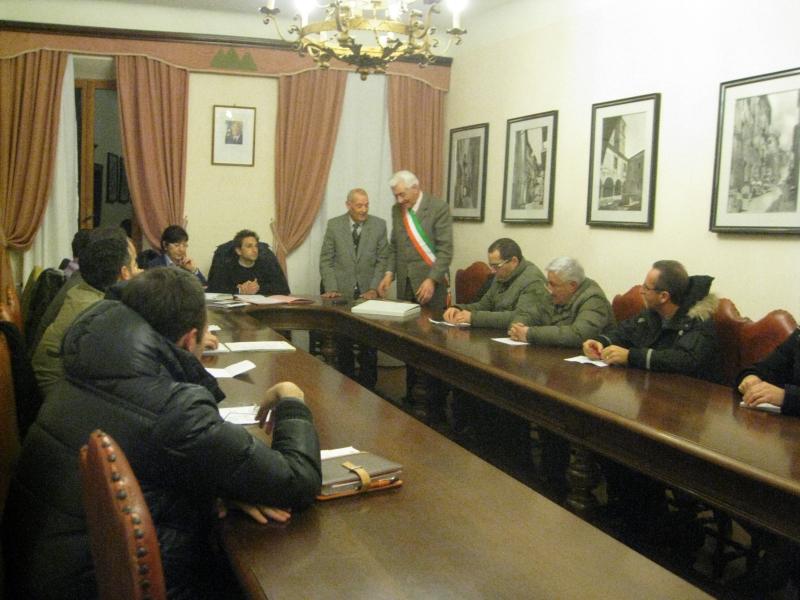 Un'immagine del Consiglio comunale di Monsampolo