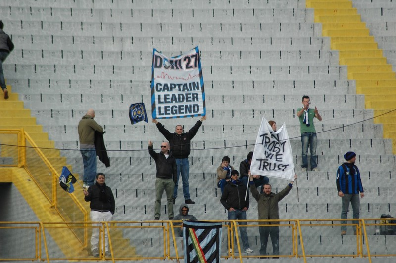 Ascoli-Atalanta, i tifosi bergamaschi (foto Giammusso)