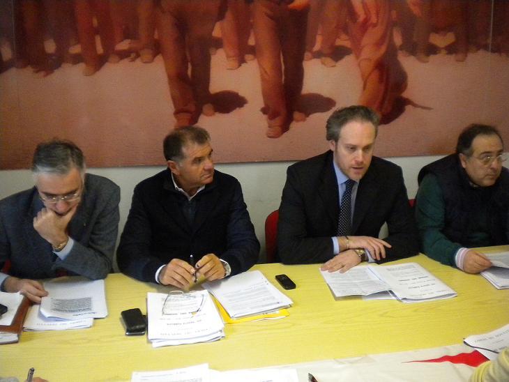 Da sinistra Canzian, Mandozzi, Di Francesco, Agostini