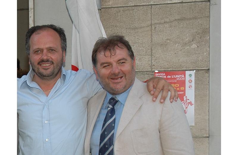 Giovanni Gaspari ed Emidio Mandozzi in una foto del 2006
