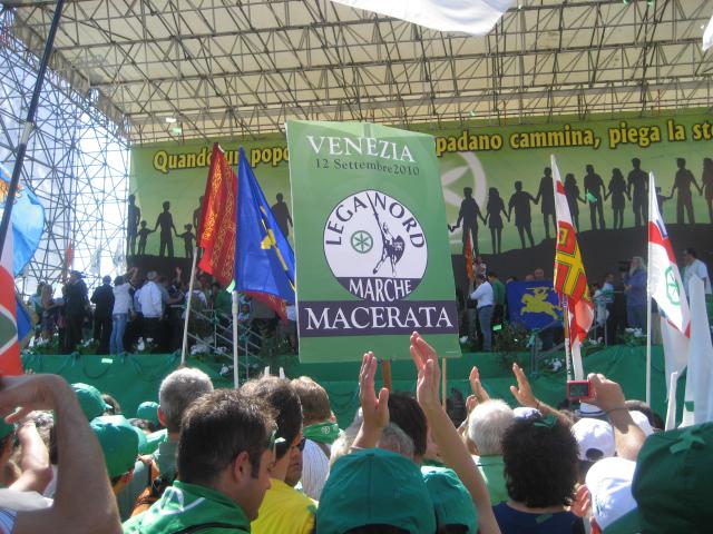 Raduno Lega Nord a Venezia settembre 2010, anche delegazioni marchigiane presenti