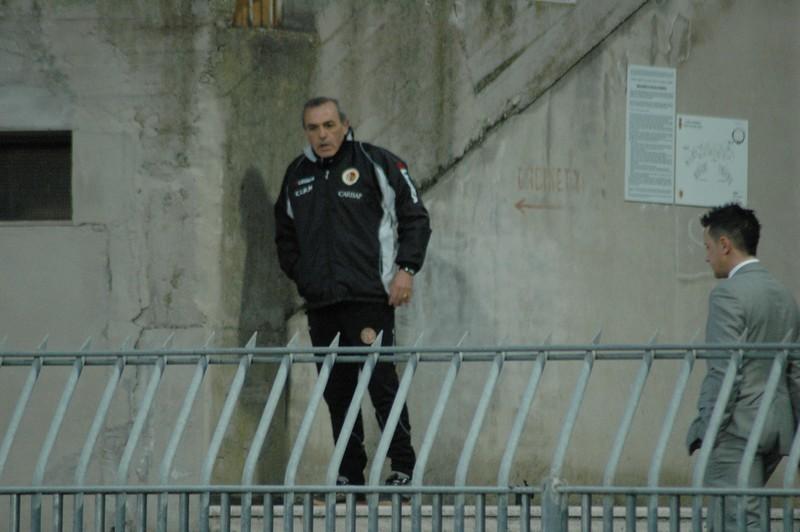 Castori espulso guarda la partita sugli spalti: immagine emblematica di Ascoli-Torino (foto Giammusso)