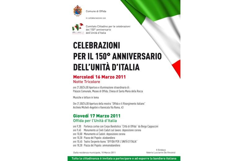 Programma delle celebrazioni del 150° anniversario dell'Unità d'Italia a Offida
