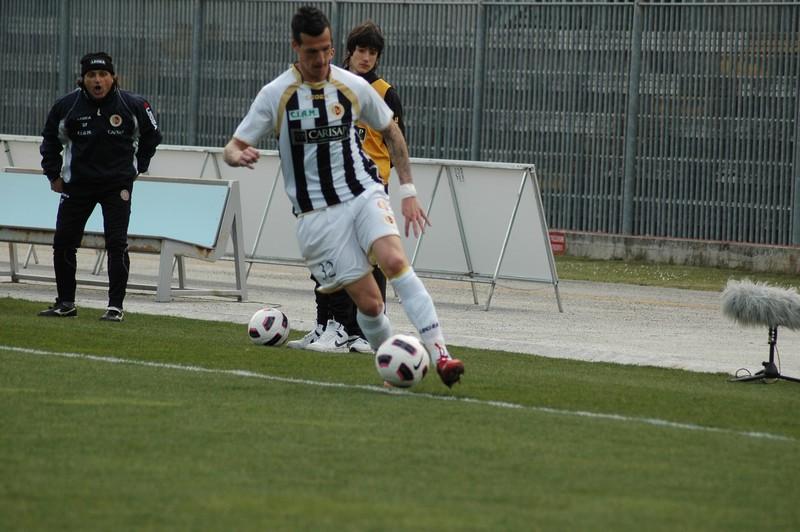 Cristiano in azione contro l'Atalanta (foto Giammusso)