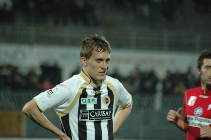 Ascoli-Vicenza, la delusione di Lupoli, che anche a Novara non ha brillato (foto Giammusso)