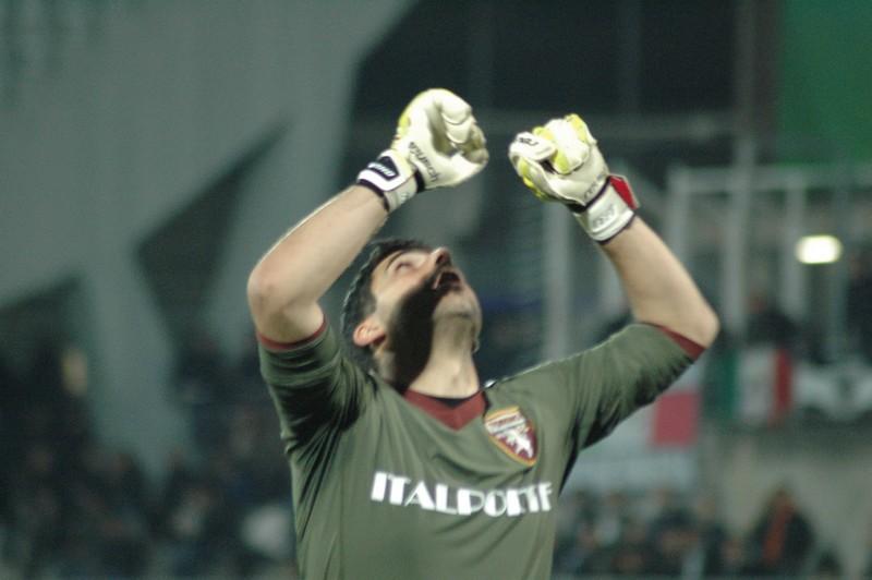 Ascoli-Torino (foto Giammusso): l'esultanza di Rubinho
