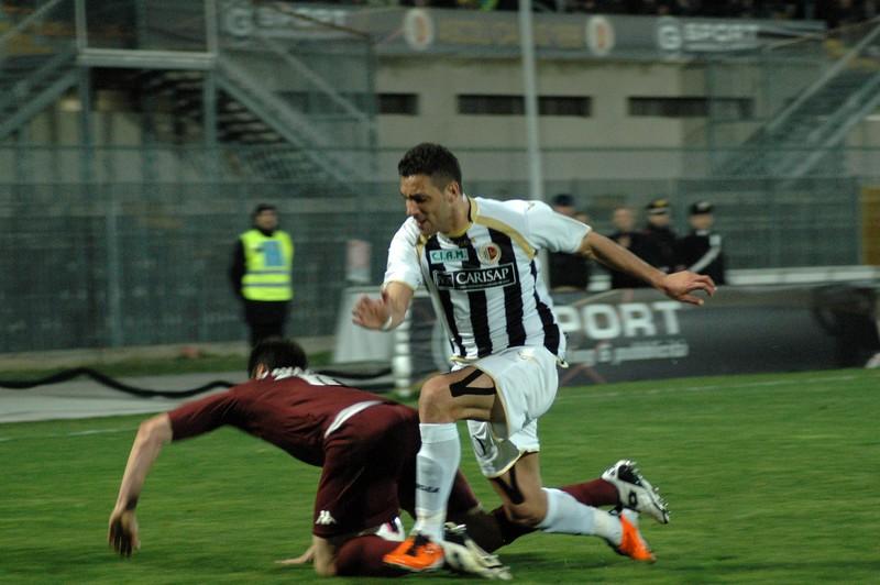 Ascoli-Torino (foto Giammusso): dopo la partita epica contro il Vicenza, sabato Mendicino non è riuscito a