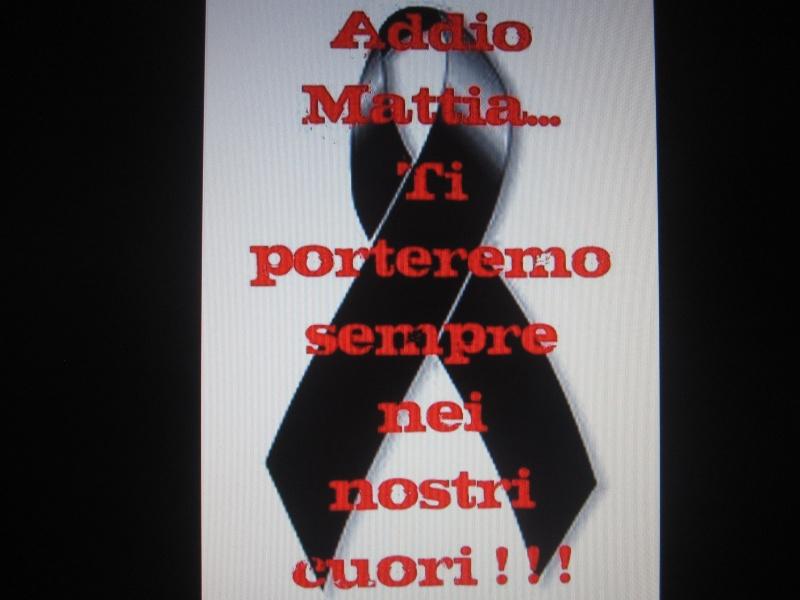 L'addio a Mattia dagli amici, su facebook