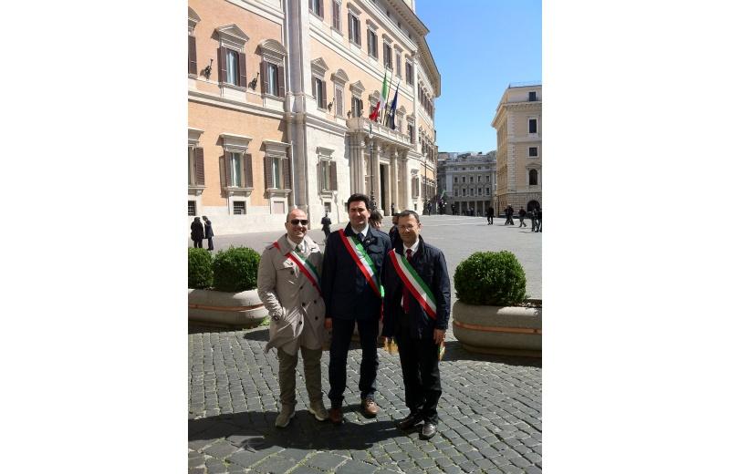Roma. Da sinistra: Valerio Lucciarini, Stefano Stracci, Paolo D'Erasmo