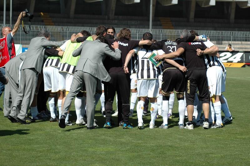 Ascoli-Sassuolo, la concentrazione pre partita dei bianconeri (foto Giammusso)
