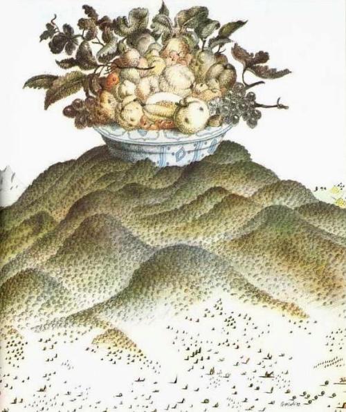 Un disegno dell'artista ascolano Tullio Pericoli