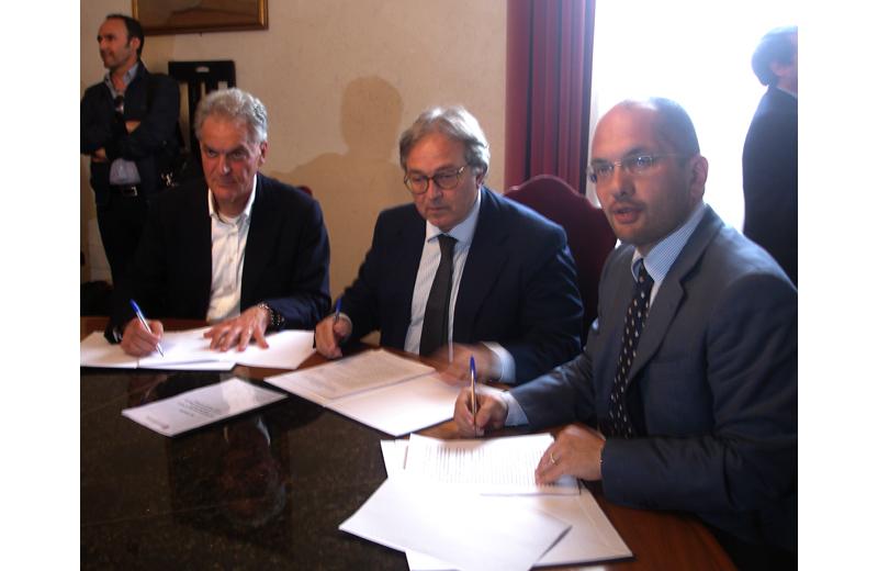 Protocollo Restart Ascoli21 Carbon: la firma di Celani, Spacca e Castelli