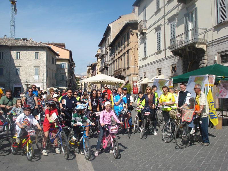 Bimbinbici, l'edizione 2010 in piazza Arringo