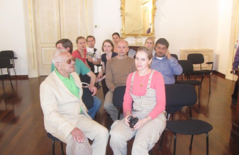 Offida Pittori russi. Il primo a sinistra è il professor Alexandre Makhov