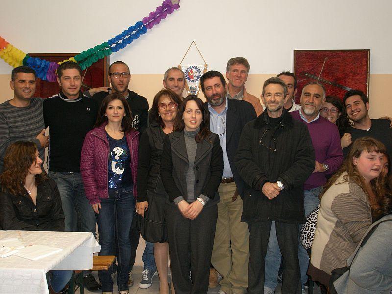 Architetti italiani e statunitensi a Castel di Lama con il sindaco Rossini e l'assessore Corradetti