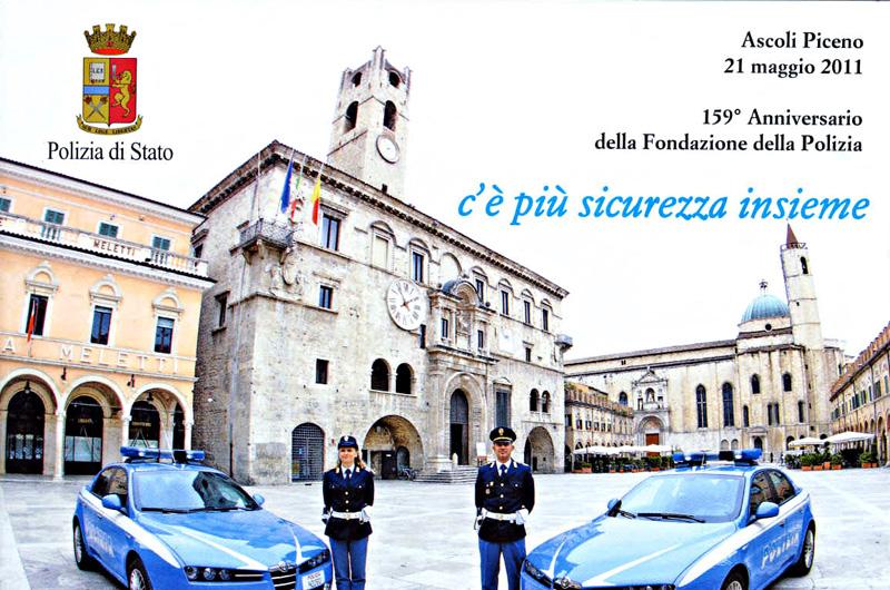 La cartolina celebrativa per la Festa della Polizia