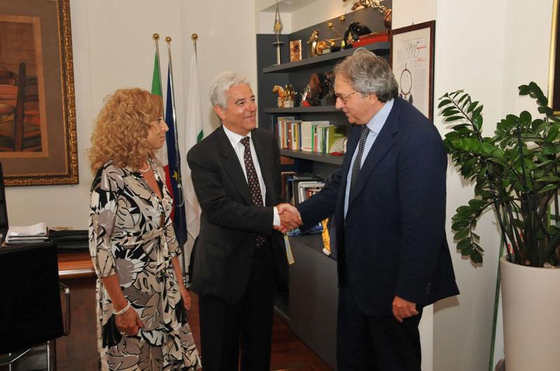 In visita dal presidente Gian Mario Spacca il commissario Antonio Senni per l'attuazione dell'Accordo di programma tra la Regione e il Ministero dell'Ambiente in tema di difesa del suolo e mitigazione del rischio idrogeologico.