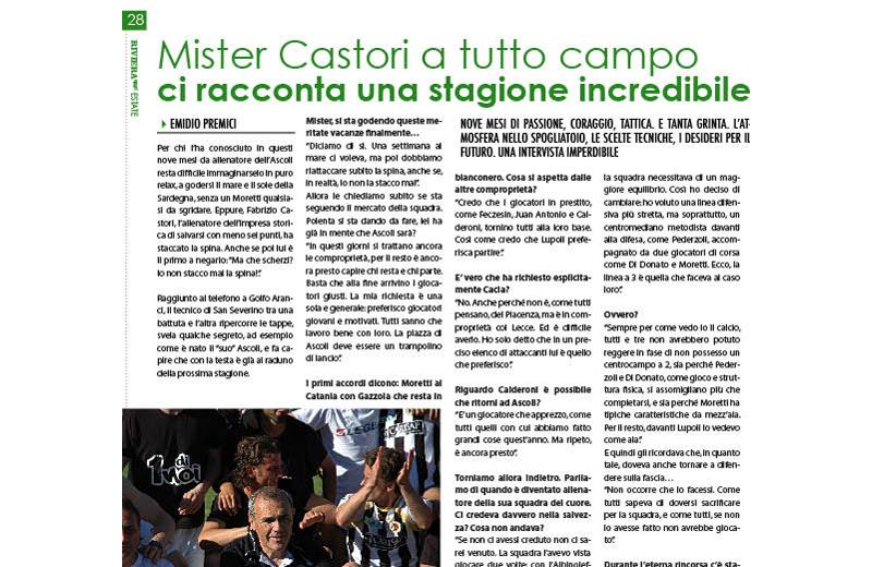 Un estratto dell'intervista a mister Castori su Riviera Oggi Estate