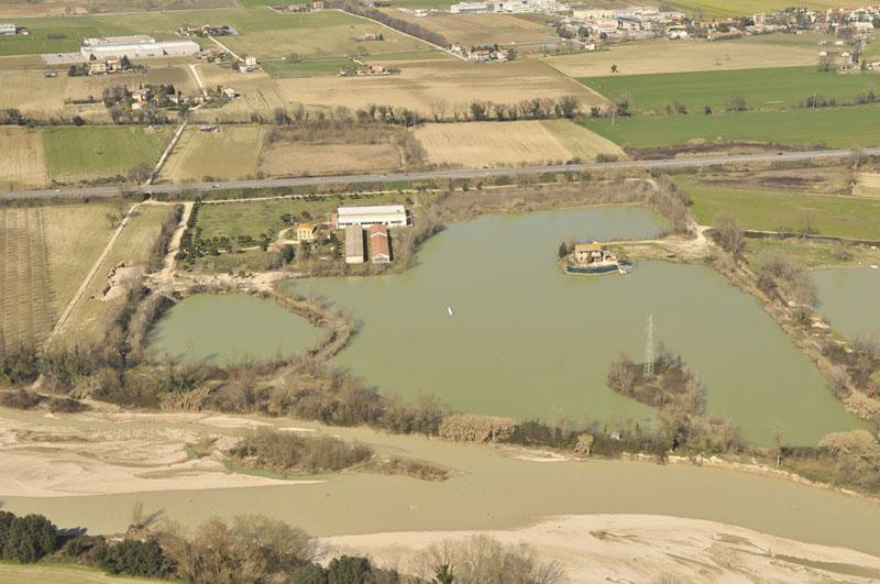 Alluvione 2011, una foto aerea