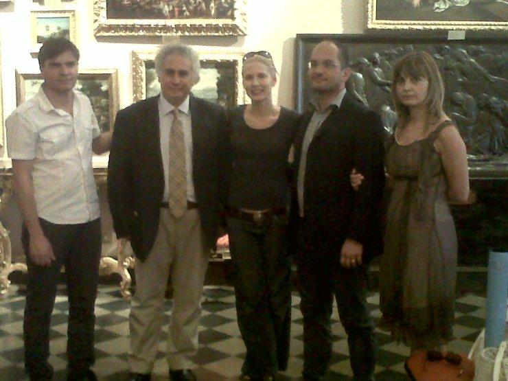 Gaia De Laurentis con il sindaco Guido Castelli e l'assessore alla Cultura,Davide Aliberti.