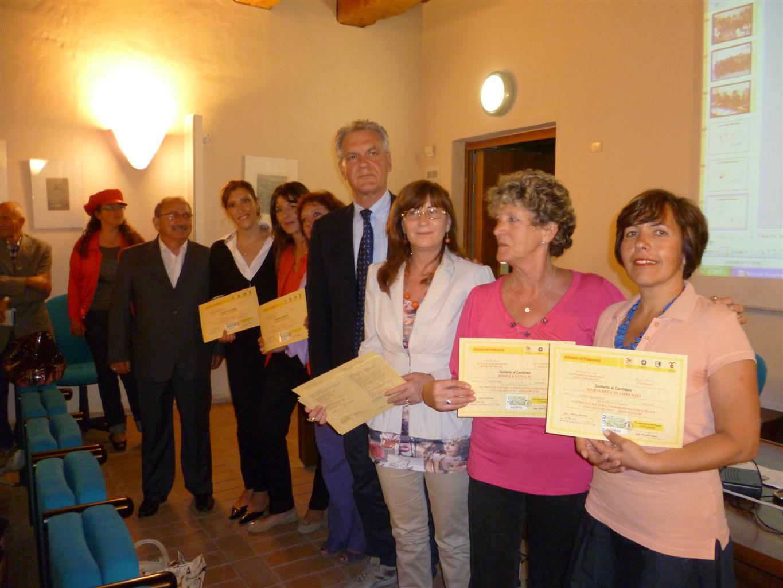 Il presidente Celani con i partecipanti del corso