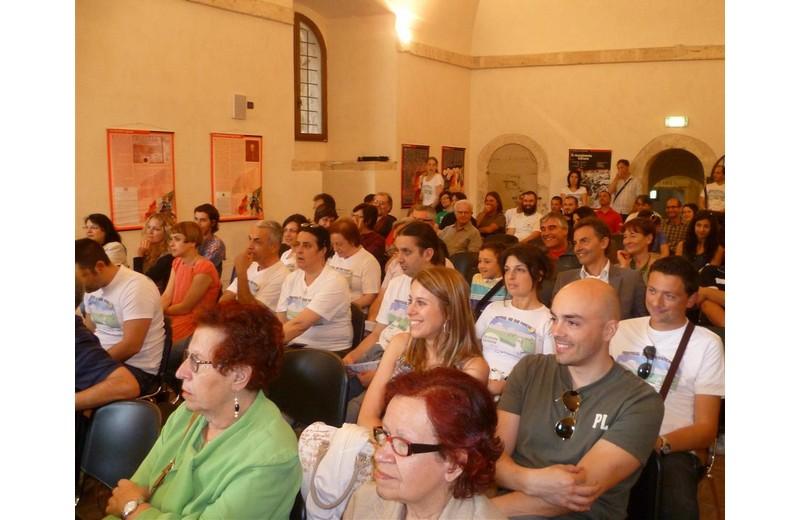 Pubblico al Forte Malatesta per l'apertura del Festival dell'Appennino