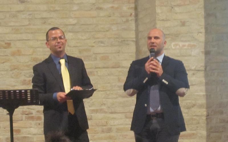 Presentazione Estate Offidana. Da sinistra Luca Sestili, Valerio Lucciarini