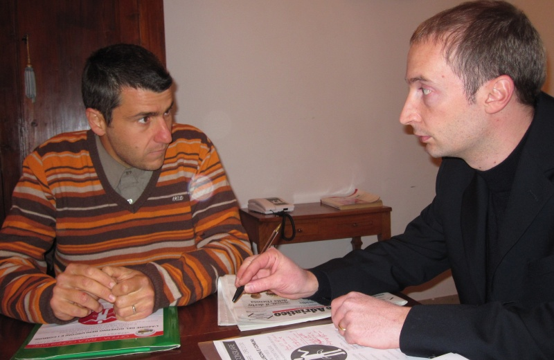 Da sinistra. Simone Diotallevi con Claudio Sibillini