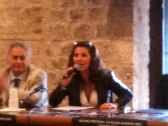 Vanessa Gravina e l'assessore alla cultura Davide Aliberti