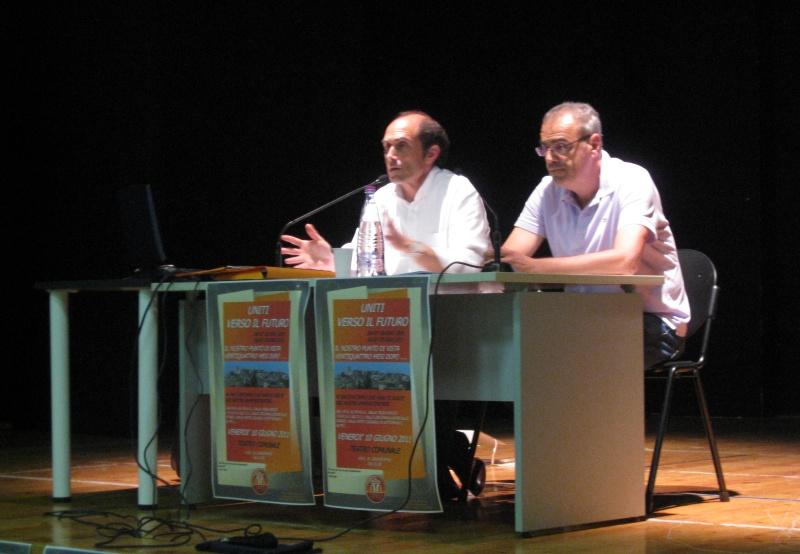 Da sinistra, i consiglieri Pierluigi Caioni e Clemente Benigni