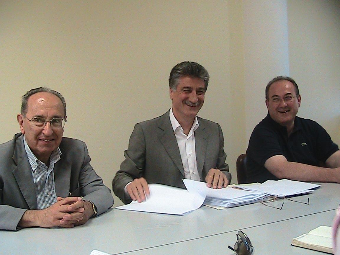 Giovanni Alleva membro del Consiglio Direttivo, Luigi Merli Presidente, Domenico Procaccini Vice Presidente