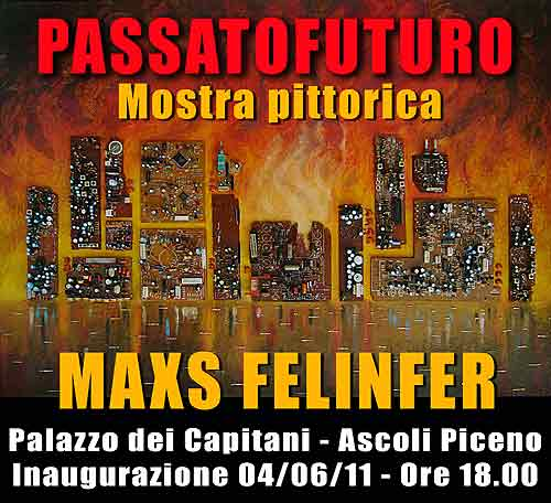 La locandina della mostra di Maxs Felinfer
