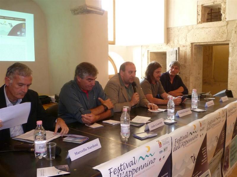 Nardoni Lanciotti Antonini Ciarma all'apertura del Festival dell'Appennino