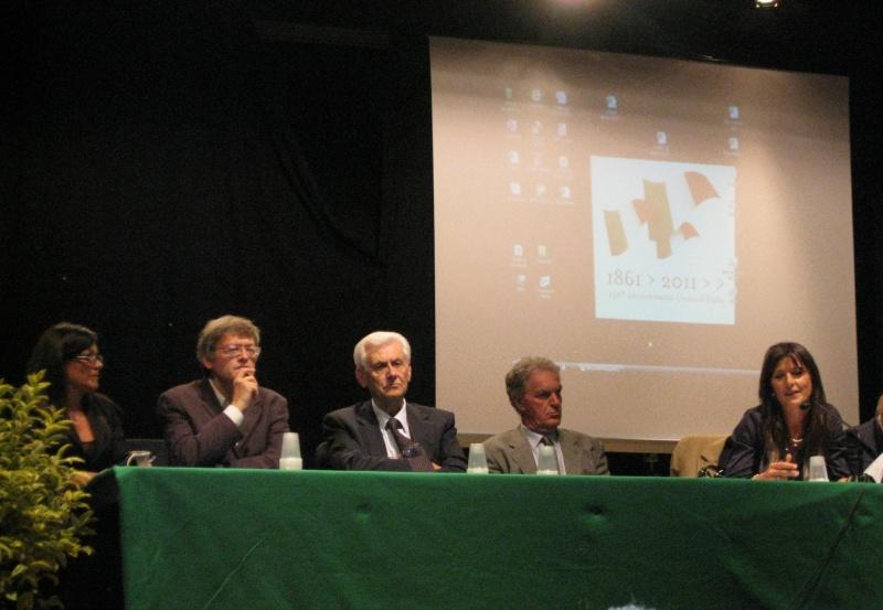 Da sinistra Gesidia Michelangeli, Paolo Schiavi, Nazzareno Tacconi, Piero Celani e Maria Pia Spurio