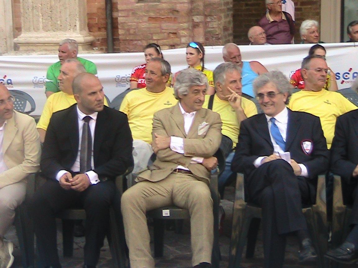 Il Sindaco di Offida Valerio Lucciarini, Gianni Rivera, Il Presidente della SCA di Offida Gianni Spaccasassi