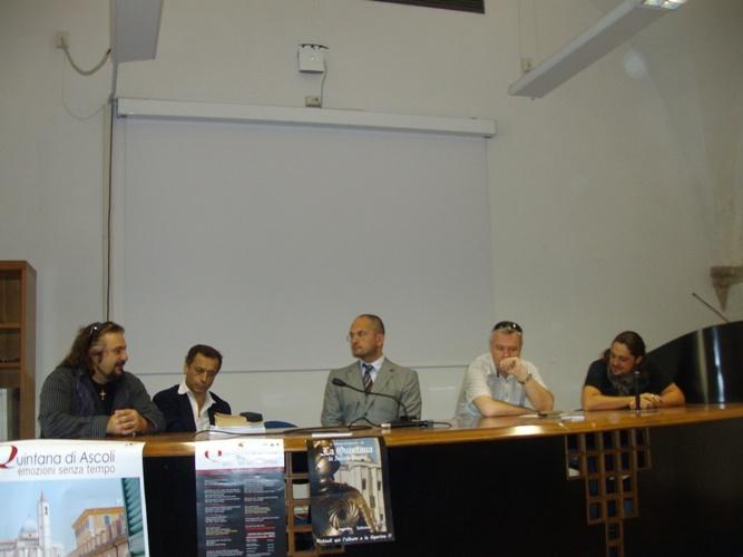 Il Sindaco di Ascoli Piceno Guido Castelli con alcuni protagonisti dell'Otello