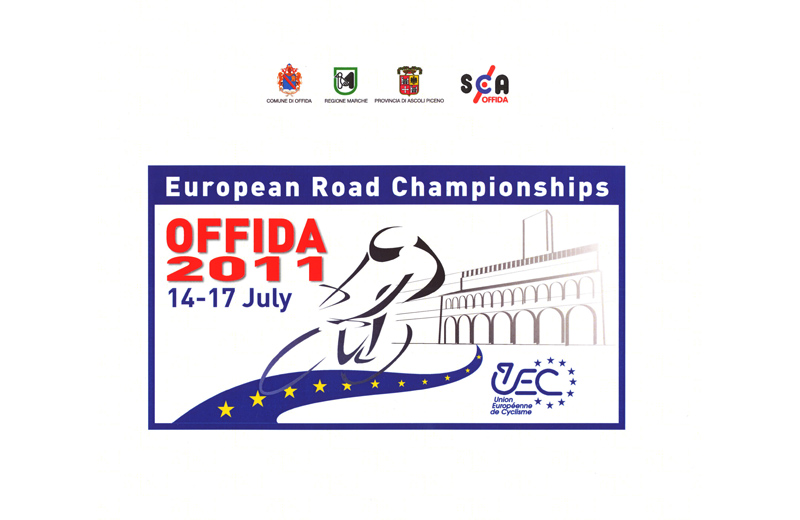 Offida 2011, campionati europei di ciclismo juniores e under 23: il logo ufficiale