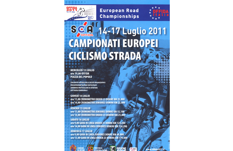 Offida 2011, campionati europei di ciclismo juniores e under 23