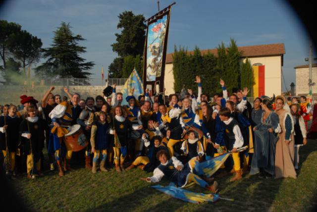 Quintana 2011, foto Troiani: la gioia di Porta Solestà