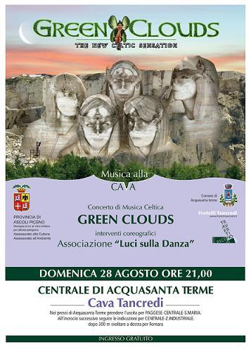 Locandina concerto Green Clouds