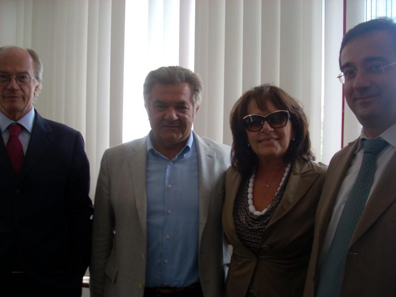 sindaco di Veles, sindaco Patrizia Rossini e Giuseppe traini