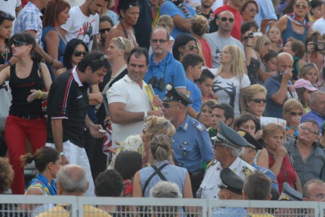 Quintana agosto 2011 (foto Troiani): litigi in tribuna con l'intervento delle forze dell'ordine