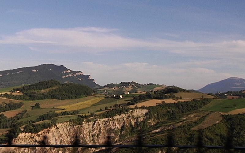 Panorama delle campagne e delle colline picene